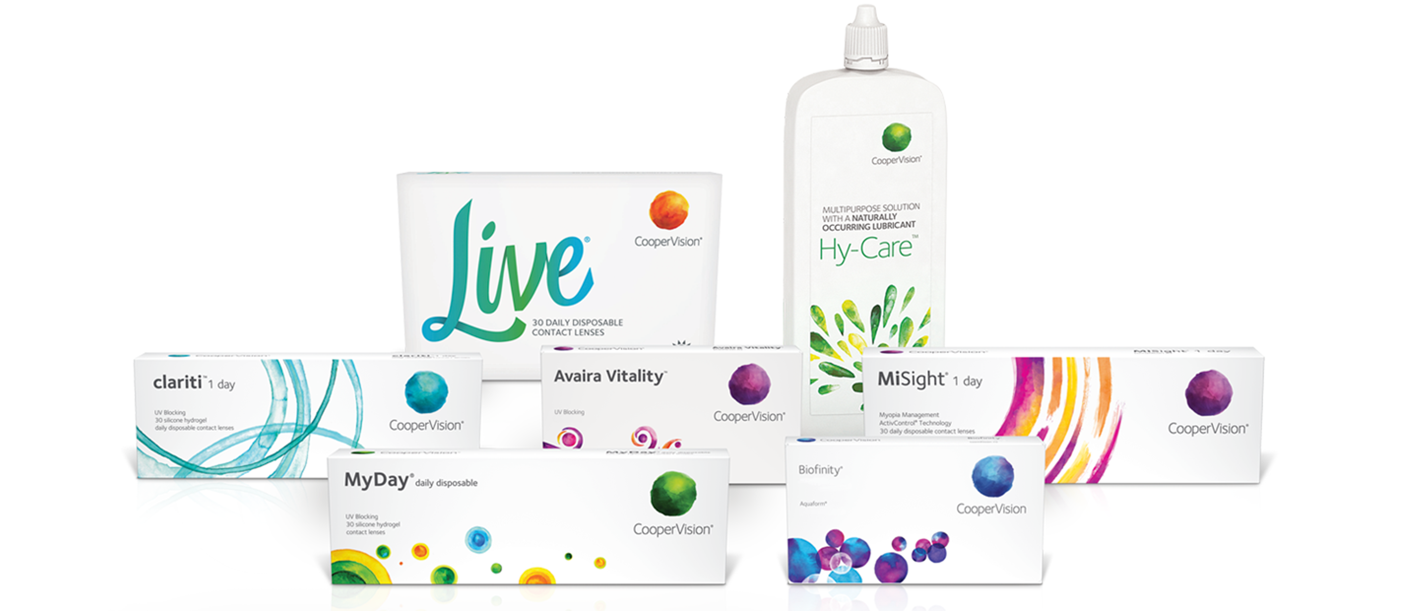 live contact lenses and solution