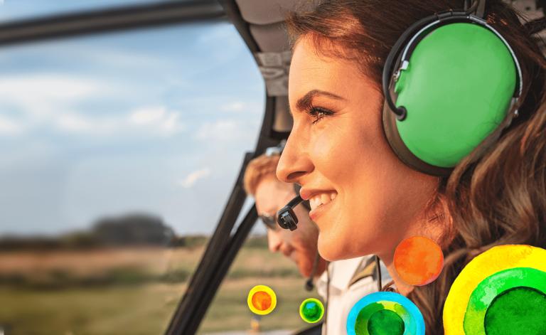 Woman pilot smiling